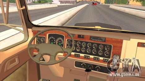Kenworth T800 Road Train 8X6 pour GTA San Andreas vue arrière