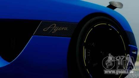 Koenigsegg Agera R für GTA San Andreas Rückansicht