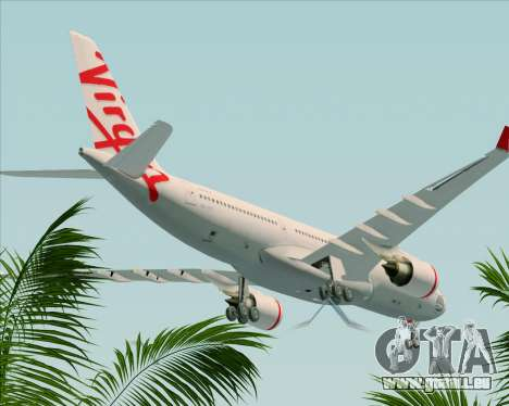 Airbus A330-200 Virgin Australia pour GTA San Andreas vue de dessus