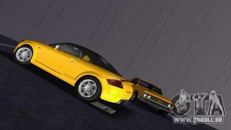 Audi TT Coupe BiMotor Black Revel pour GTA Vice City vue arrière