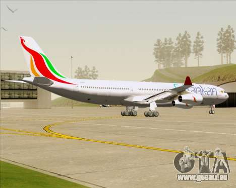 Airbus A340-313 SriLankan Airlines pour GTA San Andreas vue arrière