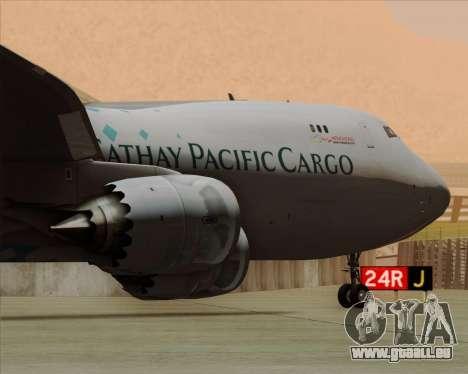Boeing 747-8 Cargo Cathay Pacific Cargo für GTA San Andreas Räder