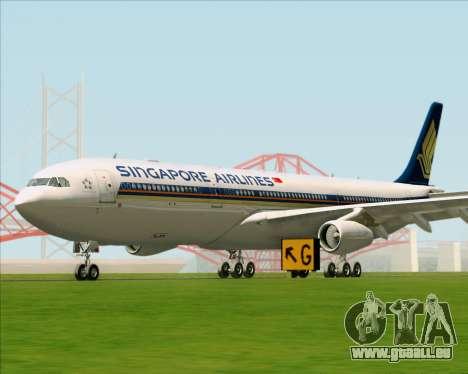 Airbus A340-313 Singapore Airlines pour GTA San Andreas laissé vue