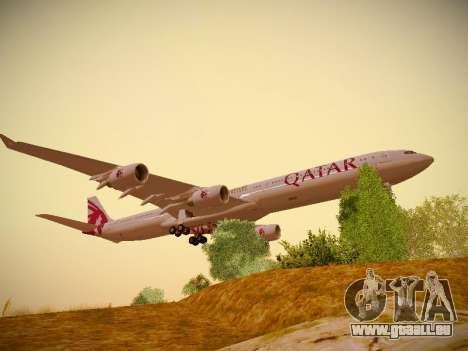 Airbus A340-600 Qatar Airways für GTA San Andreas linke Ansicht