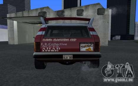 Mis À Jour Sandking pour GTA San Andreas sur la vue arrière gauche