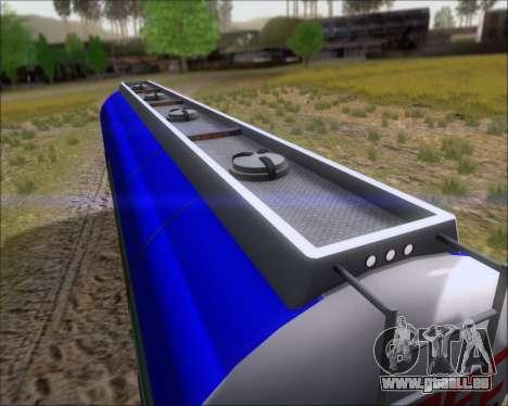 Remorque citerne Carro Copec pour GTA San Andreas vue intérieure