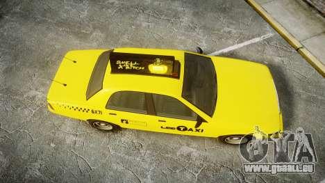 GTA V Vapid Taxi LCC pour GTA 4 est un droit