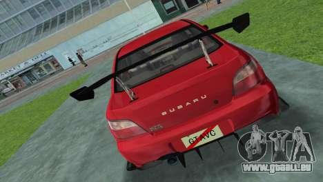 Subaru Impreza WRX 2002 Type 4 für GTA Vice City zurück linke Ansicht