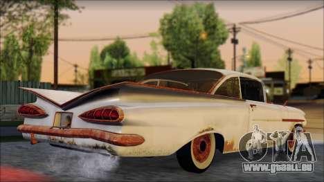 Chevrolet Biscayne 1959 Ratlook pour GTA San Andreas laissé vue