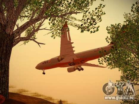 Airbus A330-200 Jetstar Airways für GTA San Andreas Rückansicht