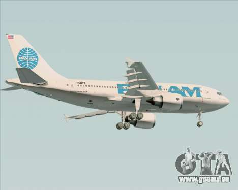 Airbus A310-324 Pan American World Airways für GTA San Andreas Rückansicht