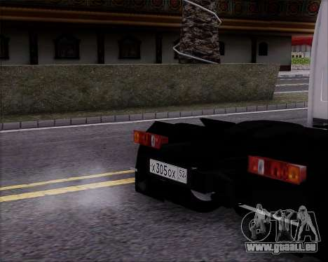 GAZel 3302 für GTA San Andreas zurück linke Ansicht
