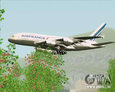 Airbus A380-861 Air France pour GTA San Andreas vue de dessous