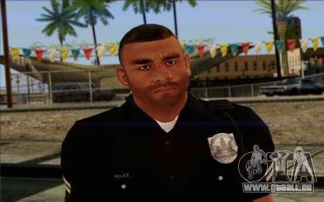 Police (GTA 5) de la Peau 4 pour GTA San Andreas troisième écran