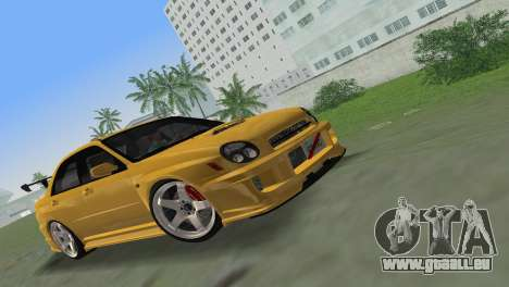 Subaru Impreza WRX 2002 Type 5 pour GTA Vice City