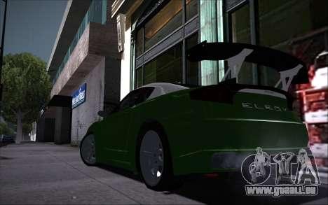 Elegy RH8 Tunable v1 pour GTA San Andreas vue intérieure