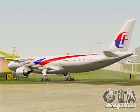 Airbus A330-323 Malaysia Airlines pour GTA San Andreas vue de droite