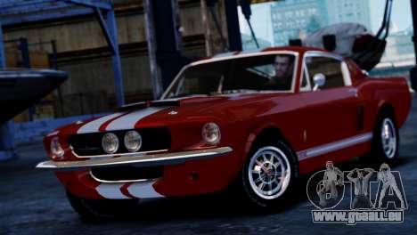 Shelby Cobra GT500 1967 pour GTA 4 Vue arrière de la gauche
