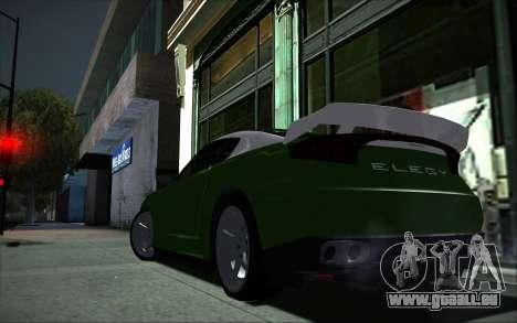Elegy RH8 Tunable v1 pour GTA San Andreas vue de droite