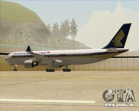 Airbus A330-300 Singapore Airlines für GTA San Andreas Rückansicht