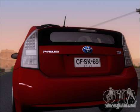 Toyota Prius pour GTA San Andreas vue de dessus