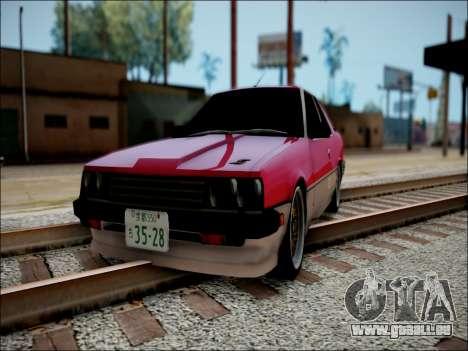 Nissan Skyline GT-R R30 für GTA San Andreas zurück linke Ansicht