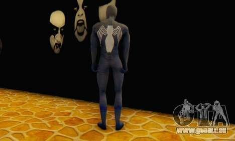 Skin The Amazing Spider Man 2 - DLC Black Suit für GTA San Andreas dritten Screenshot