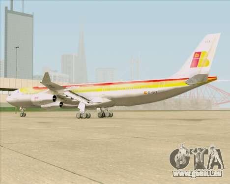 Airbus A340 -313 Iberia für GTA San Andreas Rückansicht