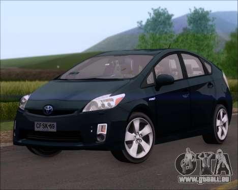 Toyota Prius pour GTA San Andreas sur la vue arrière gauche