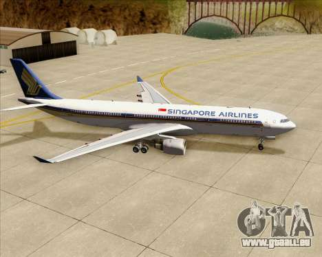 Airbus A330-300 Singapore Airlines für GTA San Andreas obere Ansicht