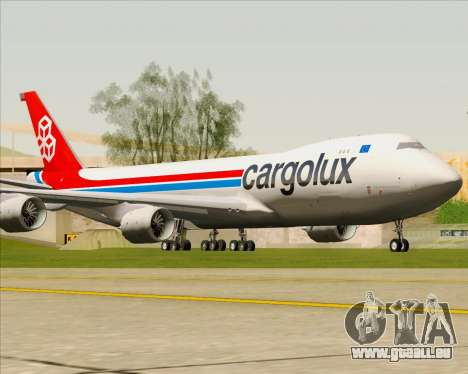 Boeing 747-8 Cargo Cargolux für GTA San Andreas linke Ansicht