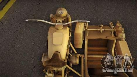 BMW R75 Desert from Forgotten Hope 2 pour GTA San Andreas sur la vue arrière gauche