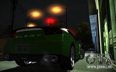 Elegy RH8 Tunable v1 pour GTA San Andreas laissé vue