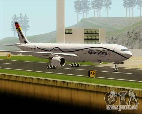 Airbus A330-300 Fly International für GTA San Andreas Seitenansicht
