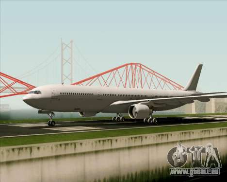 Airbus A330-300 Full White Livery pour GTA San Andreas vue arrière