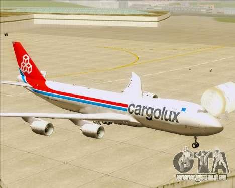Boeing 747-8 Cargo Cargolux für GTA San Andreas Räder