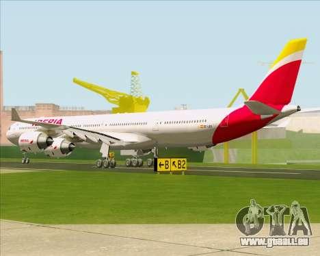 Airbus A340-642 Iberia Airlines pour GTA San Andreas sur la vue arrière gauche