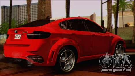 BMW X6M Lumma pour GTA San Andreas laissé vue