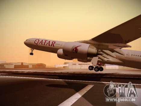 Airbus A340-600 Qatar Airways für GTA San Andreas obere Ansicht