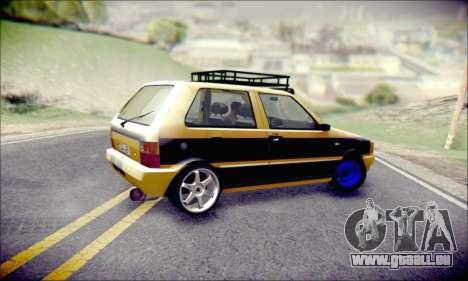 Fiat Uno pour GTA San Andreas vue intérieure