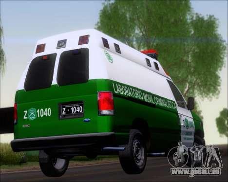Ford E-150 Labocar pour GTA San Andreas vue de côté