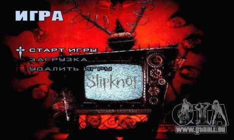 Metal Menu - Slipknot pour GTA San Andreas deuxième écran