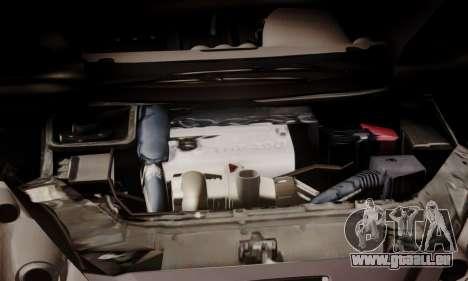 Peugeot RCZ pour GTA San Andreas vue intérieure