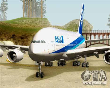 Airbus A380-800 All Nippon Airways (ANA) für GTA San Andreas Unteransicht