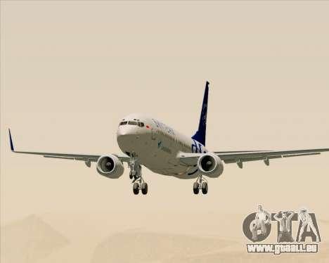 Boeing 737-86N Garuda Indonesia für GTA San Andreas Innenansicht