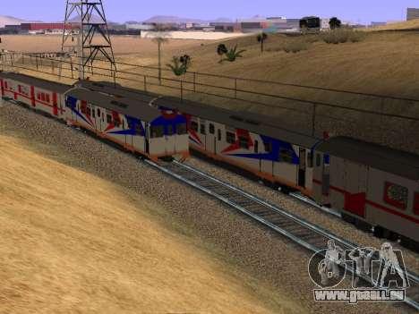 Indonesische diesel-Zug MCW-302 für GTA San Andreas Rückansicht