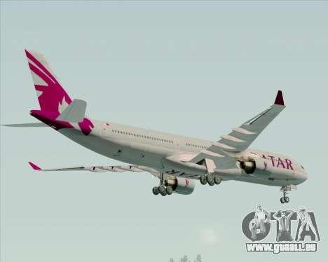 Airbus A330-300 Qatar Airways pour GTA San Andreas vue de dessous