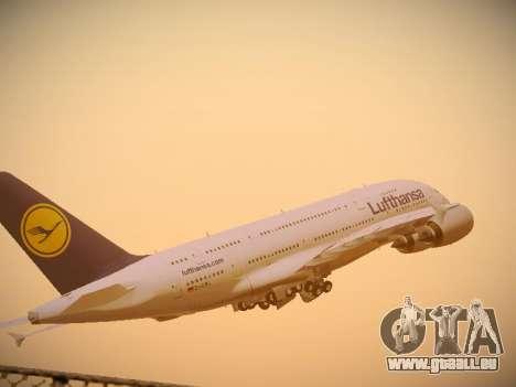 Airbus A380-800 Lufthansa pour GTA San Andreas vue intérieure