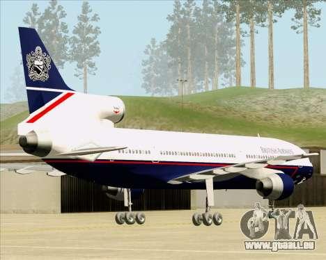 Lockheed L-1011 TriStar British Airways pour GTA San Andreas sur la vue arrière gauche