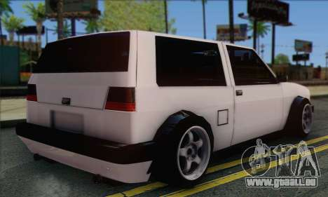 Volkswagen Club Mk2 pour GTA San Andreas laissé vue
